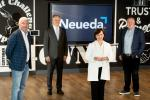 Economy Minister Diane Dodds announces digital solution firm Neueda will create 230 jobs.