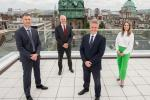 Economy Minister Paul Frew (second right) with (from left) Ian McConnell, Partner Lead PwC Operate, Kevin Holland CEO Invest Northern Ireland and Deborah Stevenson, Senior Manager PwC Operate UK.