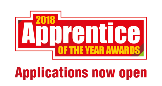 Apprentice of the Year 2018 banner - applications now open