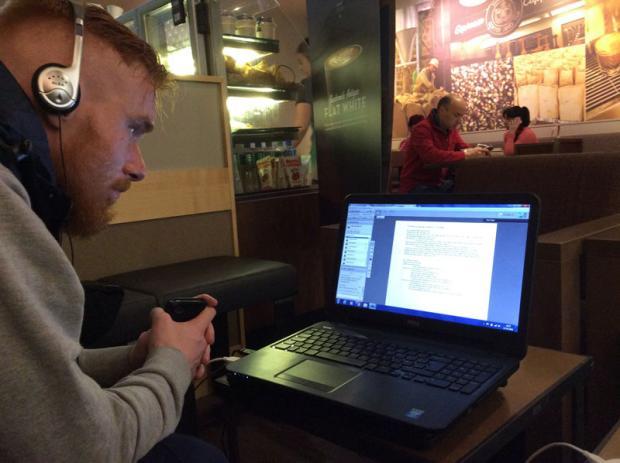 Conor McHugh studying