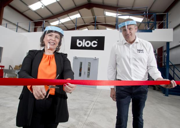 Economy Minister opens PPE manufacturing facility at Bloc Blinds, Magherafelt.