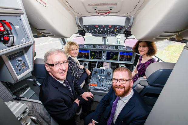 Economy Minister Simon Hamilton MLA has congratulated Bombardier on the inaugural commercial flight of the C Series aircraft, from Zürich to Paris, with Swiss International Air Lines.