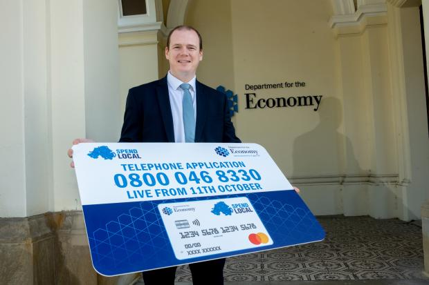 Economy Minister announces applications for the Spend Local prepaid card can be made via telephone from 11 October.