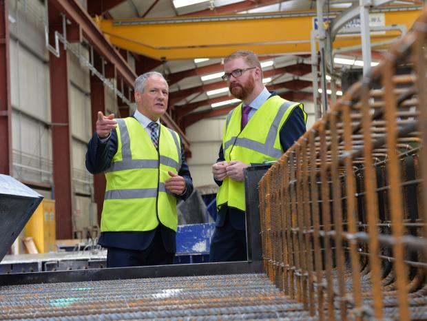Hamilton visits Moore Concrete Products Ltd in Ballymena
