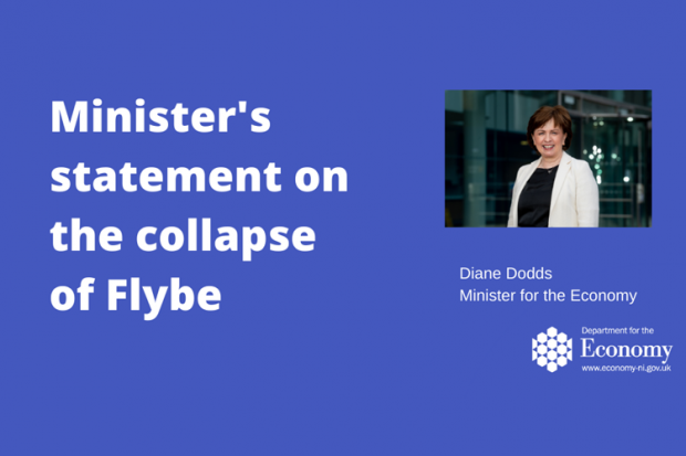 Minister's statement on the collapse of Flybe