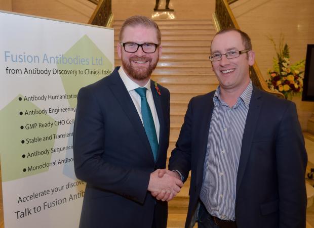 Economy Minister announces expansion at Dunmurry Pharmaceutical Company Fusion Antibodies Ltd