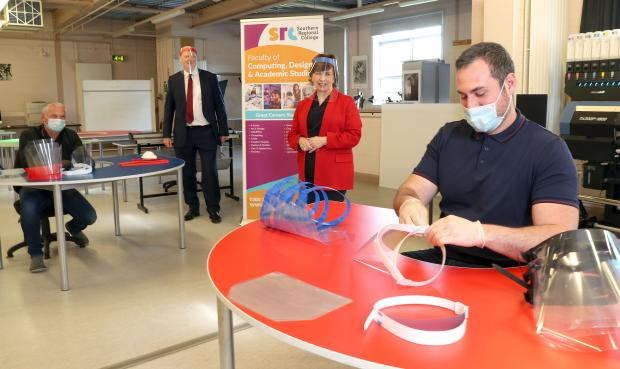 Dodds salutes Southern Regional College as it makes 1,000 facial shields for health workers