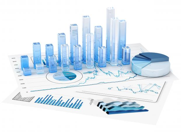 Stock image of a graph for decorative purposes