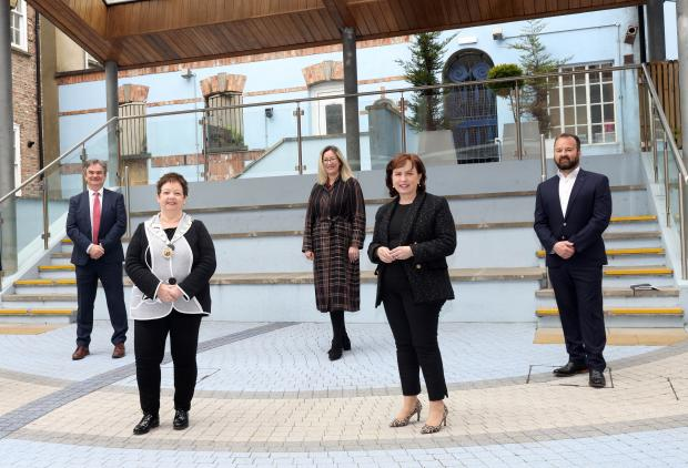 Economy Minister Diane Dodds meets with representatives of the Londonderry Chamber of Commerce