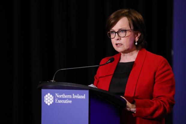 Diane Dodds speaking at the Executive daily briefing 15 May 2020