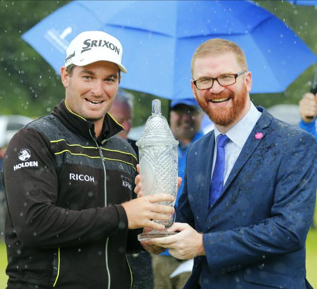 Hamilton congratulates Ryan Fox on NI Open win