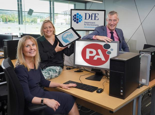 Pictured are left to right Siobhan Lyons, Head of Economic Development at Belfast Met, Nuala Harden, Principal Consultant at PA Consulting and Graeme Wilkinson, Director of Skills at the Department for the Economy.
