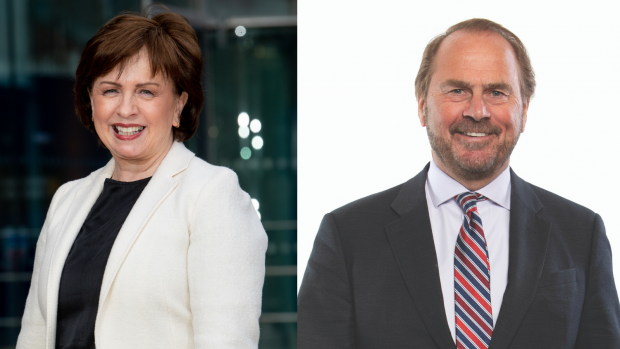 Economy Minister Diane Dodds and Michael Ward, Partner at Gateley.