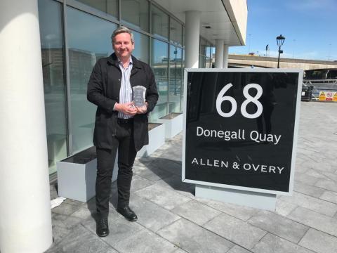 Large Employer Award 2021 - Allen & Overy (James Lappin) in partnership with Belfast Metropolitan College (Aidan Sloane)