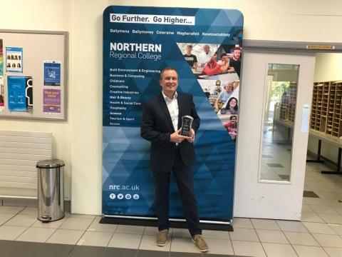 Large Employer Award 2021 - Patrick Wallace, Northern Regional College, in partnership with RYOBI Casting (UK) Ltd (Gwyneth Evans)