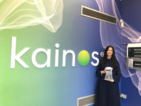 Large Employer Award 2021 - Kainos Group plc (Debbie McQuillan) in partnership with Ulster University (Mark Donnelly)