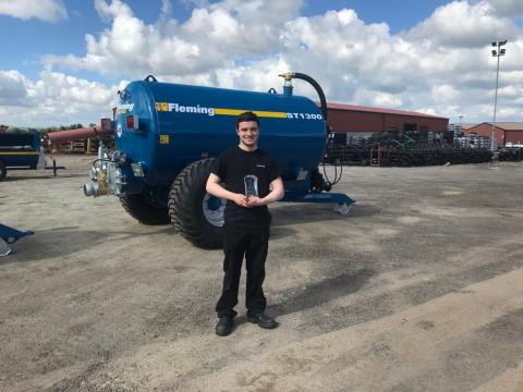Declan McEleney. Fleming Agri-Foods, finalist in the Apprentice Award category, trained at North West Regional College