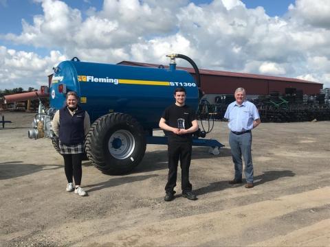 Apprentice Award 2021 - Declan McEleney - Fleming Agri-Products Ltd (Maggy McCartney / George Fleming) - North West Regional College