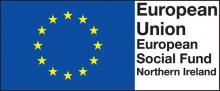 "European Social Fund Northern Ireland logo containing text ""European Union, European Social Fund, Northern Ireland"""
